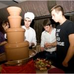 Средний шоколадный фонтан
